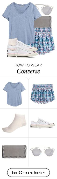 """Untitled #503"" by triskid on Polyvore featuring STELLA McCARTNEY, Christian Dior, H&M, River Island and Converse"