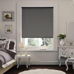 Sevilla Tranquility Black Blackout Roller Blind Bedrooms Window