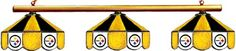 Order Now Pittsburgh Steelers Pool Table Light - Stained Glass Shades Sale