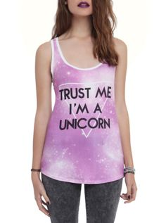 I'm A Unicorn Galaxy Girls Tank Top