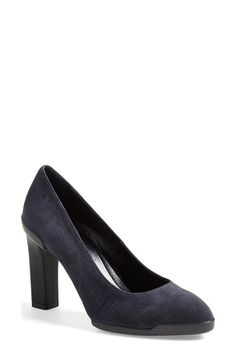 Tod's Almond Toe Pump (Women) available at #Nordstrom; I like this in black - I work a lot in Europe, many cobblestones - can't do a stiletto