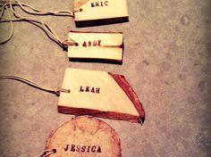 DIY Wood Place Cards by Lisa Rowe