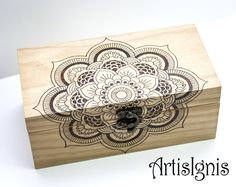 Mandala Jewelry Box Trinket box Treasure box by ArtisIgnis on Etsy