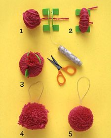 How to make yarn ornaments for #christmas.