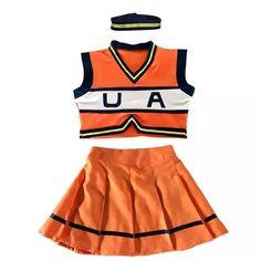 Boku No My Hero Academia Cosplay Costumes Set Cheerleader Uniform Summer Dress All Might Cosplay, Cute Cosplay, Casual Cosplay, Cosplay Outfits, Anime Outfits, Edgy Outfits, Pretty Outfits, Cool Outfits, Fashion Outfits