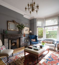 A list of interior design projects by West London interior design practice Anna Haines Design. Home Living Room, Interior, London Living Room, Country Living Room Design, Open Plan Living Room, Interior Design, Cosy Living Room, Country Living Room, Victorian Living Room