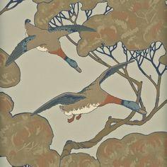 Mulberry Home Flying Ducks Wallpaper. Sky-moss.