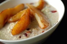 Quinoa Porridge with Sautéed Pears - Vegan Whole Food Recipes, Vegan Recipes, Quinoa Porridge, Great Grains, Anti Inflammatory Recipes, Pears, Breakfast Recipes, Favorite Recipes, Ethnic Recipes
