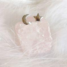 Celestial - Star & Moon Earrings – Druzy Dreams