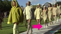 Watch Amina Blue Take Off Her Shoes Mid-Runway Walk at Yeezy Season 4