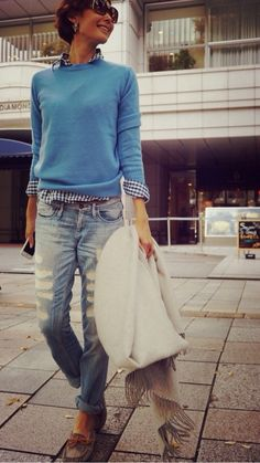 Awesome outfit, top to bottom. Jean Outfits, Winter Outfits, Casual Outfits, Denim Fashion, Fashion Outfits, Womens Fashion, Fashion Models, Fashion Tips, Estilo Hippy