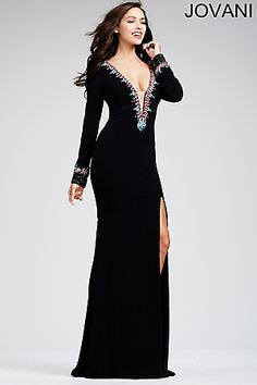 Black Jersey Beaded 31019