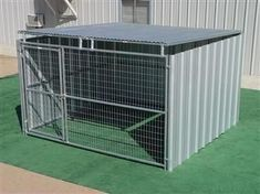 Rhino Shed Row Style Dog Kennel with Roof Shelter 10'x10' #DogCrateOutdoor #dogdiy