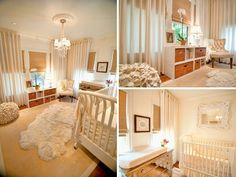 Elegant Neutral Nursery - no color, but LOTS of texture. This is how to do an all white nursery!