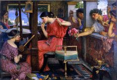 Waterhouse, John William (1849-1917) - 1912 Penelope and the Suitors (Aberdeen Art Gallery and Museums, Aberdeen, Scotland)