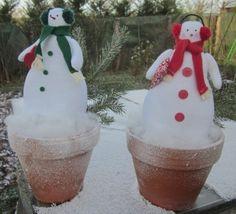Décoration de Noël: bonhommes de neige