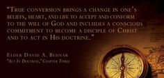 Act In His Doctrine   Creative LDS Quotes