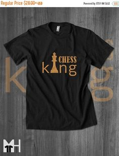 Black Friday Sale Gift for Him Chess King T Shirt by MindHarvest