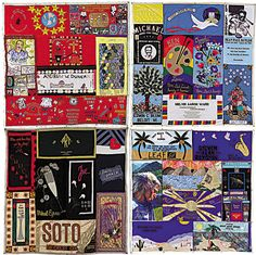A Section of the massive AIDS memorial quilt...