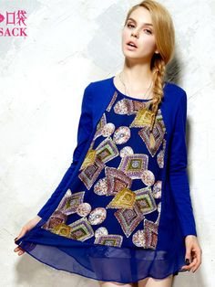 baroque print chiffon top $48  #asianicandy #chicstyle #indiefashion #elfsack