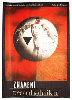 Surreal Art Poster - The Trygon Factor, 1966. Fantastic movie poster created by award winning poster designer and artist Josef Vyleťal. Poster price: £45.00 #SurrealPoster #VintagePoster #MoviePoster #60sMoviePoster #JosefVyletal
