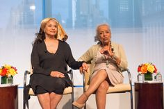 Debbie Allen and her mother Vivian Ayers-Allen at the 2014 Women's Leadership Forum by executive leadership council