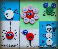 Obrázky z vršků od PET lahví - Pictures from screw caps for pet bottle Crafts For Kids, Arts And Crafts, Bottle Cap Crafts, Pet Bottle, Recycled Art, Diy For Kids, Back To School, Kindergarten, Preschool