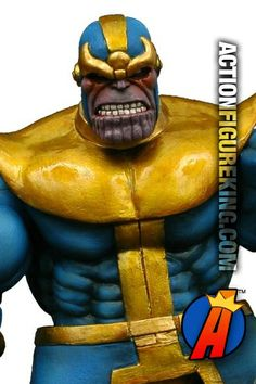 With the Avengers sequel geared up to feature Thanos as the main villain, this Marvel Select action figure could a great investment. Fully articulated, this massive figure stands about 7-inches tall. #thanos #avengers #actionfigures #marvelselect