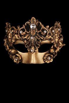 Venetian mask with rhinestones in papier mache, masquerade masks with jewels, diamonds, ball masks jewelry.