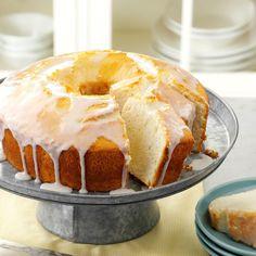 Moist Lemon Chiffon Cake Recipe This fluffy cake is a real treat drizzled with the sweettart lemon glaze Rebecca Baird Salt Lake City Utah Lemon Curd Dessert, Dessert Crepes, Lemon Desserts, Lemon Recipes, Just Desserts, Baking Recipes, Delicious Desserts, Cupcakes, Cupcake Cakes