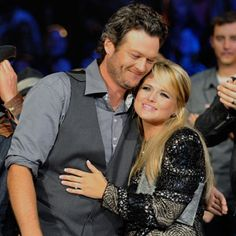 Blake Shelton and Miranda Lambert. So adorable