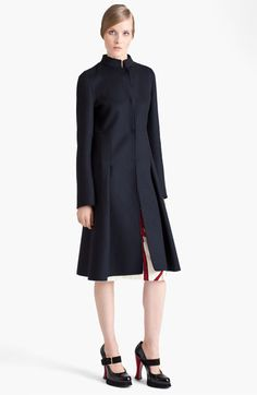 Marni Inverted Pleat Wool Coat available at Nordstrom