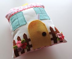 Ready To Ship  Tooth Fairy Pillow House  by NeverlandNook on Etsy
