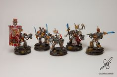 Grey Knights Terminators - squad by Colorfulsavage.deviantart.com on @DeviantArt
