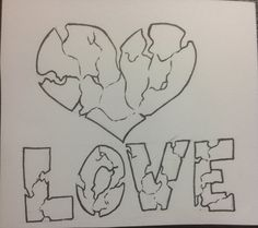 Drew this when I was bored as hell in school lol – Graffiti World Easy Love Drawings, Sad Drawings, Dark Art Drawings, Pencil Art Drawings, Art Drawings Sketches, Broken Heart Drawings, Sketches Of Love, Graffiti Drawing, Grafiti