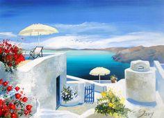 Andre Savy Santorini Island Vista