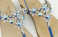 Capri sandal swarovsky crystal element Dea Sandals Collection Capri fashion www.deasandals.com
