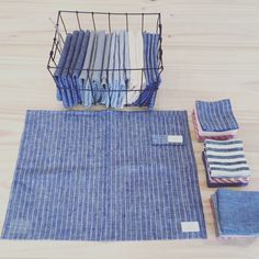 Fog linen placemats and coasters