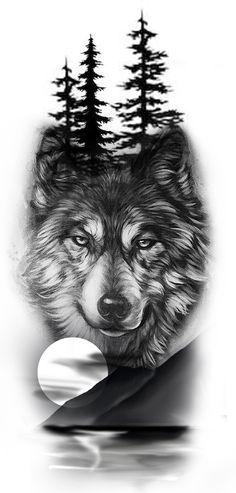 Wolf Tattoos Men, Native Tattoos, Animal Tattoos, Tattoos For Guys, Celtic Tattoos, Wolf Tattoo Forearm, Wolf Tattoo Sleeve, Sleeve Tattoos, Wolf Tattoo Back