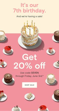 It's our birthday. And we're having a sale! Getting older isn't all bad. Tell us when your birthday is and we'll send you a little something every year. Page Layout Design, Web Design, Graphic Design Tutorials, Web Layout, Blog Layout, Website Layout, Blog Design, Birthday Email, 7th Birthday