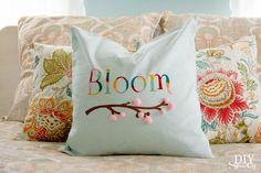 Spring Pillow Cover at diyshowoff.com