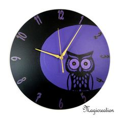 HORLOGE HIBOU AU CLAIR DE LUNE - Boutique www.magicreation.fr