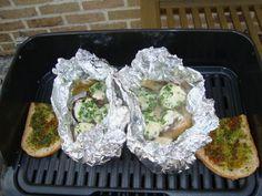 Champignons gevuld met kruidenkaas op de barbecue 4