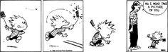Calvin swats a fly