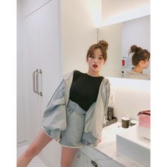 "Gefällt 2,117 Mal, 35 Kommentare - 강경민 (@kkmmmkk) auf Instagram: ""٩(ˊᗜˋ*)و 호텔룩 , 집앞룩으론 요런것이 딱이여 ~~!!^^!!"" Korean Girl Fashion, Ulzzang Fashion, Korea Fashion, Japanese Fashion, Minimal Fashion, Pop Fashion, Cute Fashion, Fashion Outfits, Womens Fashion"
