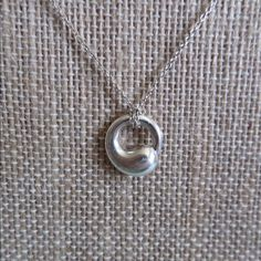 Tiffany co eternal circle necklace tiffany chains and elsa peretti eternal circle pendant size small on a 16 chain original mozeypictures Image collections