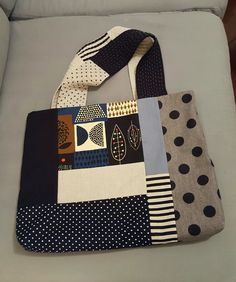 Big patchwork tote bag