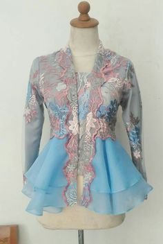 Kebaya Peplum, Kebaya Lace, Kebaya Hijab, Batik Kebaya, Kebaya Muslim, Blouse Batik, Batik Dress, Kebaya Moden, Kebaya Modern Dress