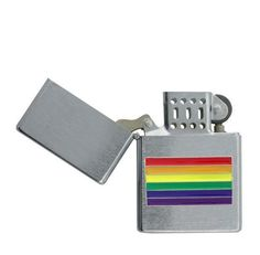Chrome Center Rainbow Flag Gay Pride Lighter