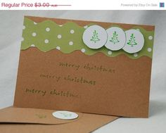 Another Merry Christmas Card Handmade Hand by JemLouProductions, $2.55